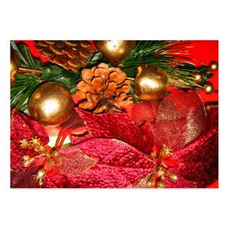 Navidad Greetings_ Tarjetas De Visita Grandes