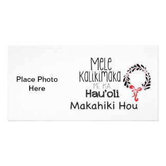 Navidad hawaiano tarjeta fotografica personalizada