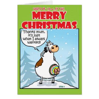 Navidad hecho punto tarjeta