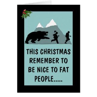 Navidad hilarante tarjeta de felicitación