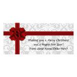 Navidad impreso arco rojo del día de fiesta de la lona personalizada
