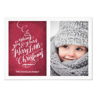 Navidad indicado con letras del ornamento el | de invitación 12,7 x 17,8 cm