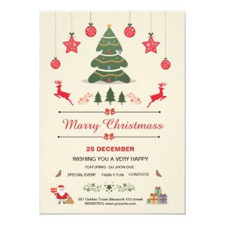 Navidad, invitación de la celebración de días