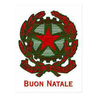 Navidad italiano que saluda postal