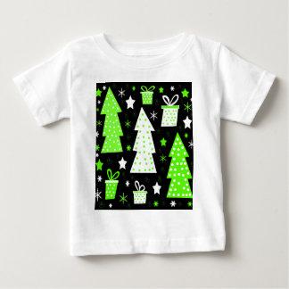 Navidad juguetona verde camiseta de bebé