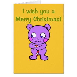 Navidad linda del oso felicitacion