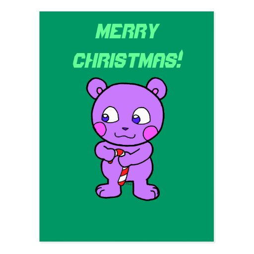 Navidad linda del oso tarjeta postal