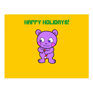 Navidad linda del oso postal