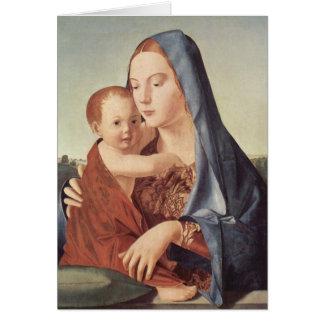Navidad - Madonna - Antonello DA Messina Tarjeta