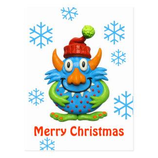 Navidad manchado dulce del monstruo postal