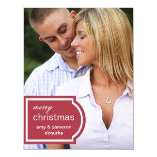 Navidad marcado con etiqueta de la foto comunicados personales