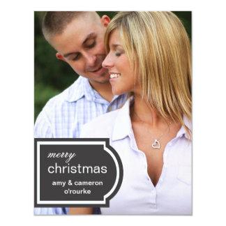 Navidad marcado con etiqueta de la foto invitación 10,8 x 13,9 cm
