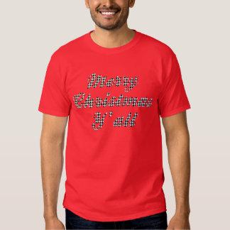 Navidad meridional que saluda Houndstooth Camiseta