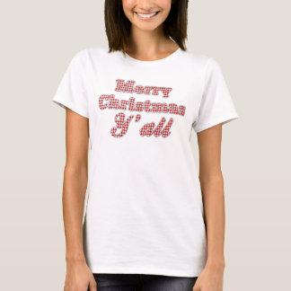 Navidad meridional que saluda Houndstooth Custom3 Camiseta