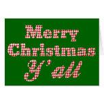 Navidad meridional que saluda Houndstooth Felicitación