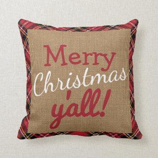 Navidad meridional usted almohada de la arpillera