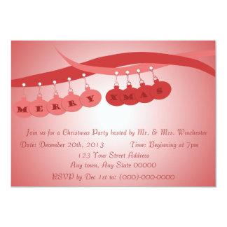 Navidad moderna invitación 12,7 x 17,8 cm
