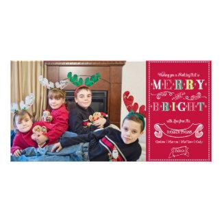 Navidad moderno de la foto de los felices días de plantilla para tarjeta de foto