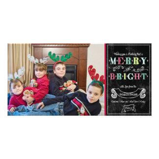 Navidad moderno de la foto de los felices días de  tarjetas personales con fotos