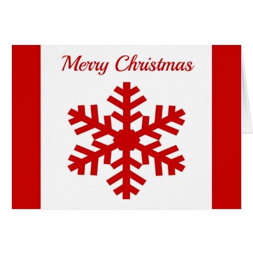 Navidad moderno del copo de nieve rojo del tarjeta