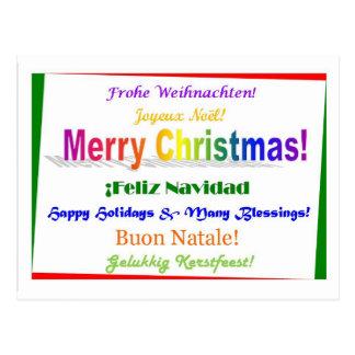 Navidad - multilingüe postal