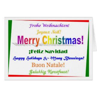 Navidad - multilingüe tarjeta de felicitación