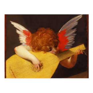 Navidad musical del vintage del ángel postal