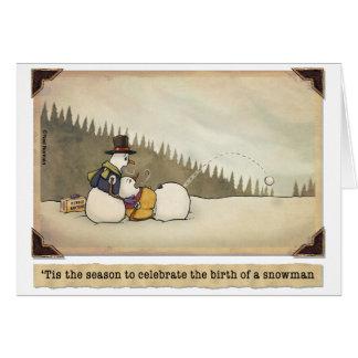 Navidad:  Nacimiento de una tarjeta del muñeco de