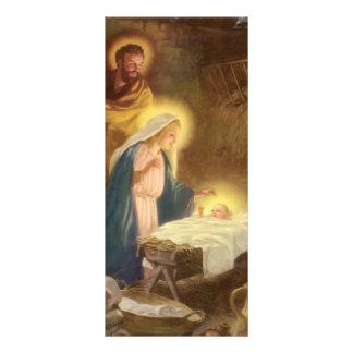 Navidad natividad, bebé Jesús del vintage de Maria Diseño De Tarjeta Publicitaria