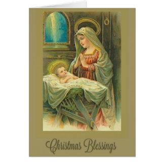 Navidad, natividad, Virgen María, niño de Cristo, Tarjeta