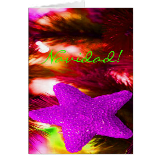 Navidad Navidad STAR-II púrpura Tarjeta De Felicitación