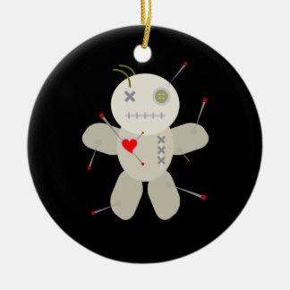 Navidad negro de la muñeca del vudú del gótico adorno de cerámica