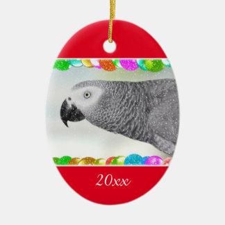 Navidad Nevado del gris africano Ornamento Para Arbol De Navidad
