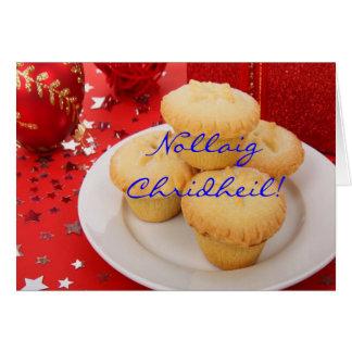Navidad Nollaig Chridheil Tarjeta