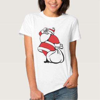 Navidad Papá Noel alegre, saco del dibujo animado Camiseta