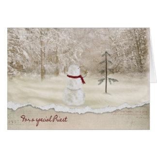 Navidad para el sacerdote tarjeta de felicitación