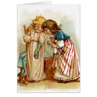 Navidad para las hermanas tarjeta de felicitación
