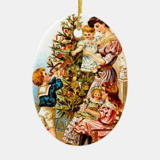 Navidad para una madre adorno de cerámica