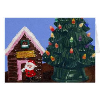Navidad pasado de moda tarjeta de felicitación