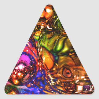 Navidad Pegatina Triangular