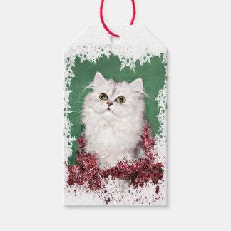 Navidad persa del gatito etiquetas para regalos