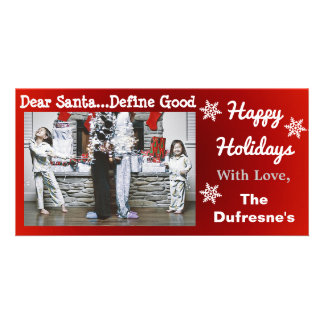 Navidad personalizado divertido tarjeta personal
