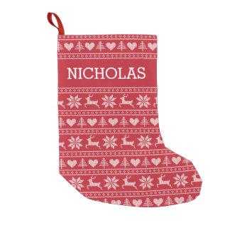 ¡Navidad personalizado que almacena la selección Calcetín De Navidad Pequeño