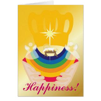 Navidad-Personalizar de la felicidad Tarjeta