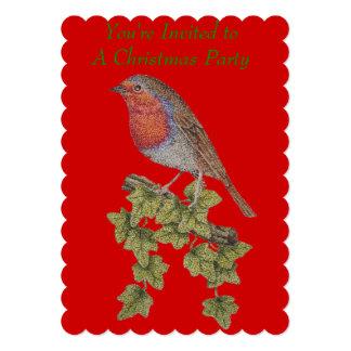 Navidad petirrojo y ejemplo de las hojas de la comunicado