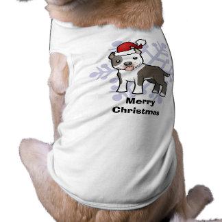 Navidad Pitbull/Staffordshire Terrier americano Camiseta Sin Mangas Para Perro