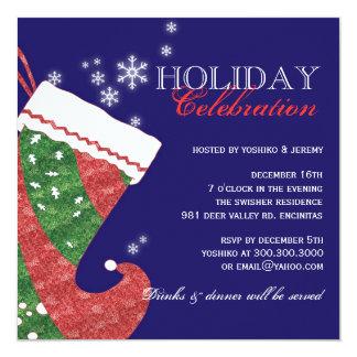Navidad que almacena al fiesta elegante de la invitación 13,3 cm x 13,3cm