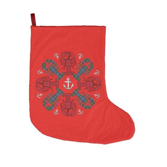 Navidad que almacena la playa náutica de la calcetín de navidad grande