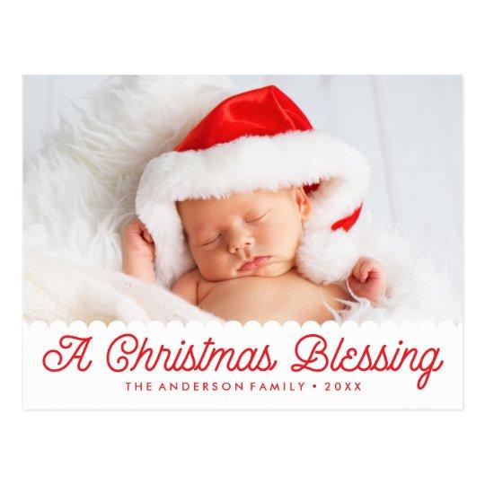 Navidad que bendice la postal de la foto del día