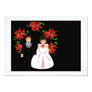 Navidad que casa pares con la guirnalda en el rojo anuncios